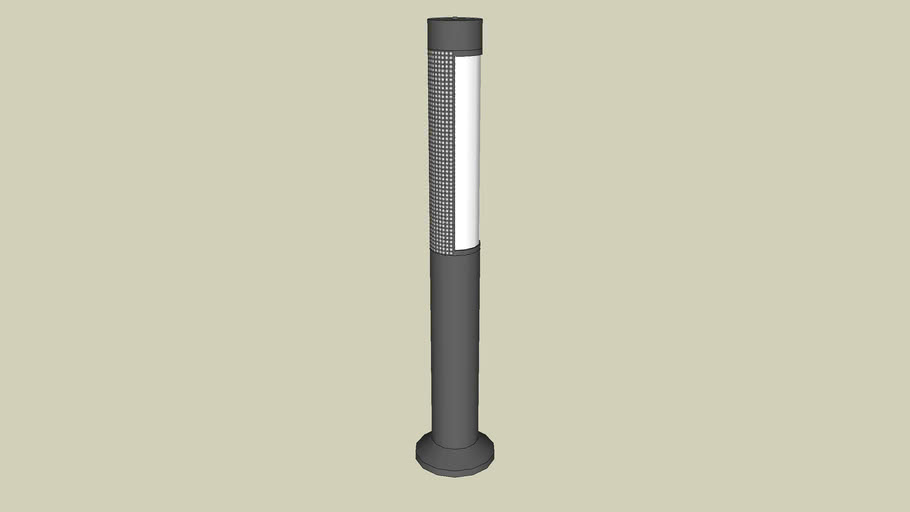 Forms+Surfaces® Light Column Bollard, series 500, 180 degree perforated shield