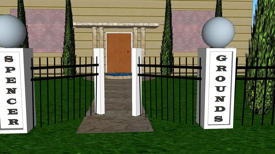 Privacy Fence and Home