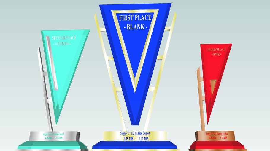 Sergeo 777's El camino contest trophies