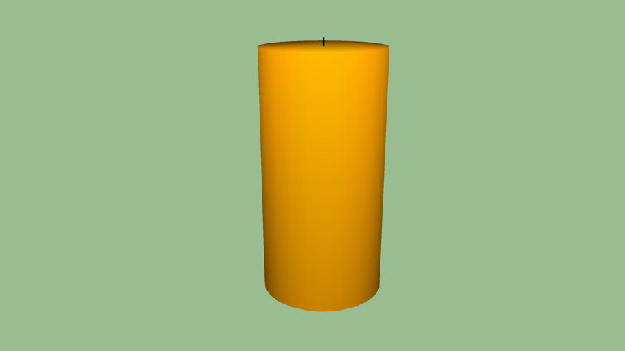 """3"""" x 6"""" Unscented Candle - Gold"""