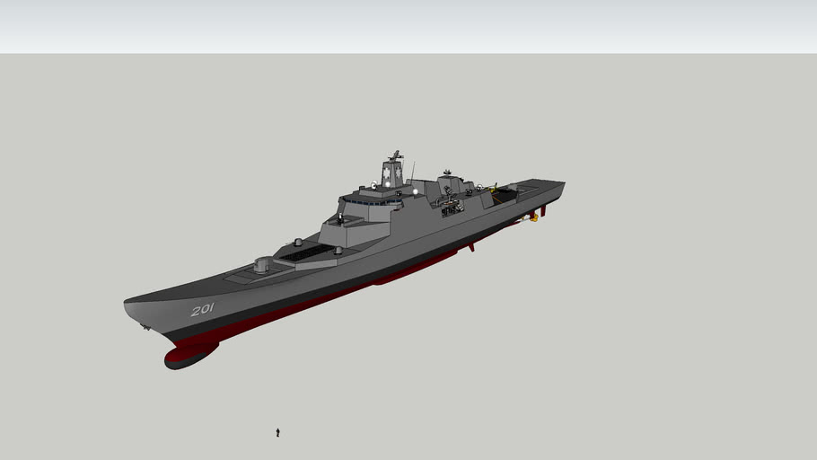 Guided Missile Cruiser Model A