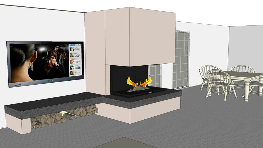 Spartherm three sides wood stove