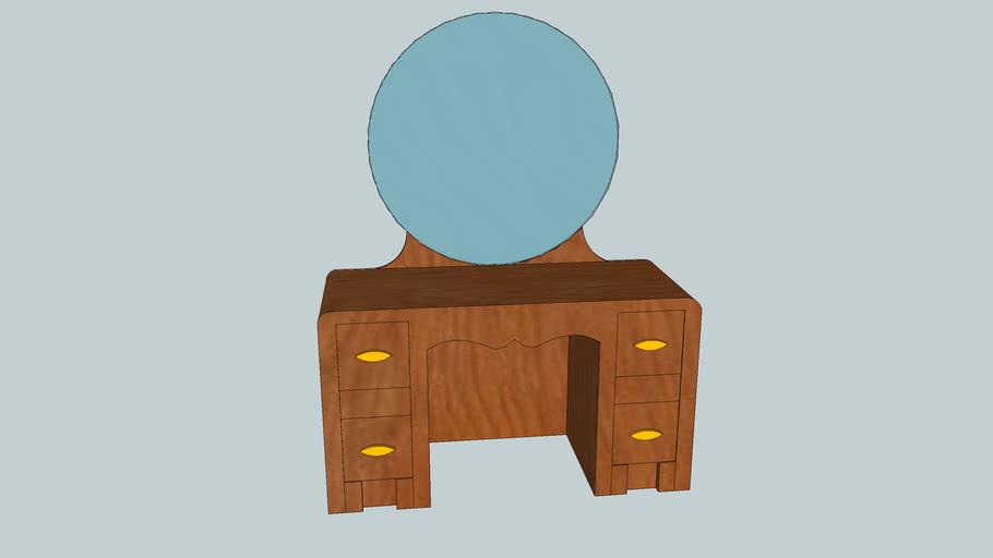 four drawer dresser with mirror