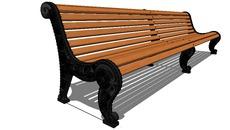 park benches timber iron