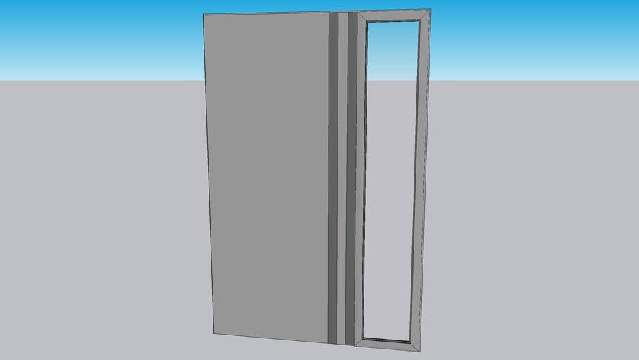 Front door RAL7015 glass