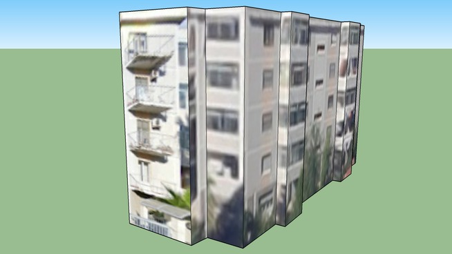 Building in Cagliari CA, Italia via baccelli 10