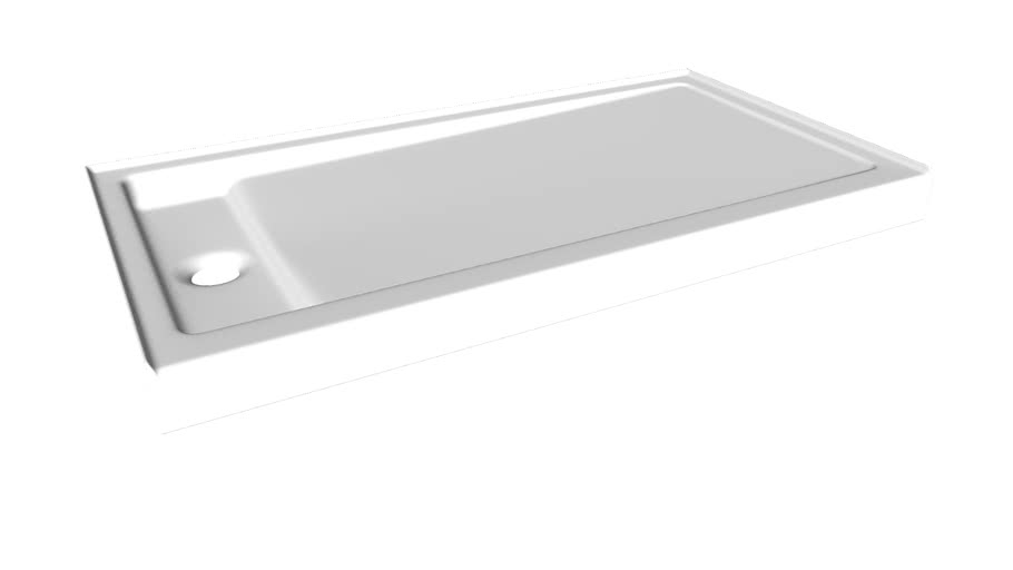 "K-9163 Bellwether(R) 60"" x 32"" single-threshold shower base with left center drain"