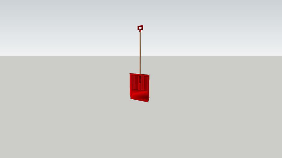 Shovel, Snow, Red
