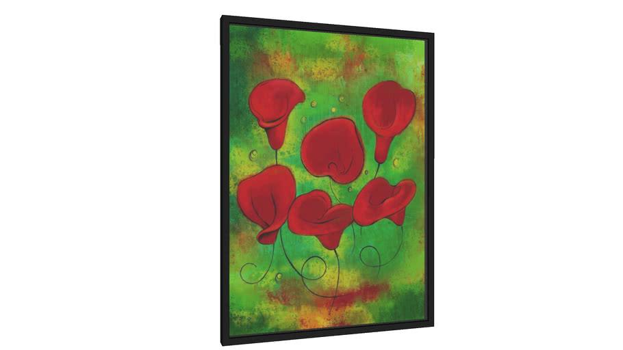 Quadro Lindas Flores Vermelhas - Galeria9, por leandrojsj