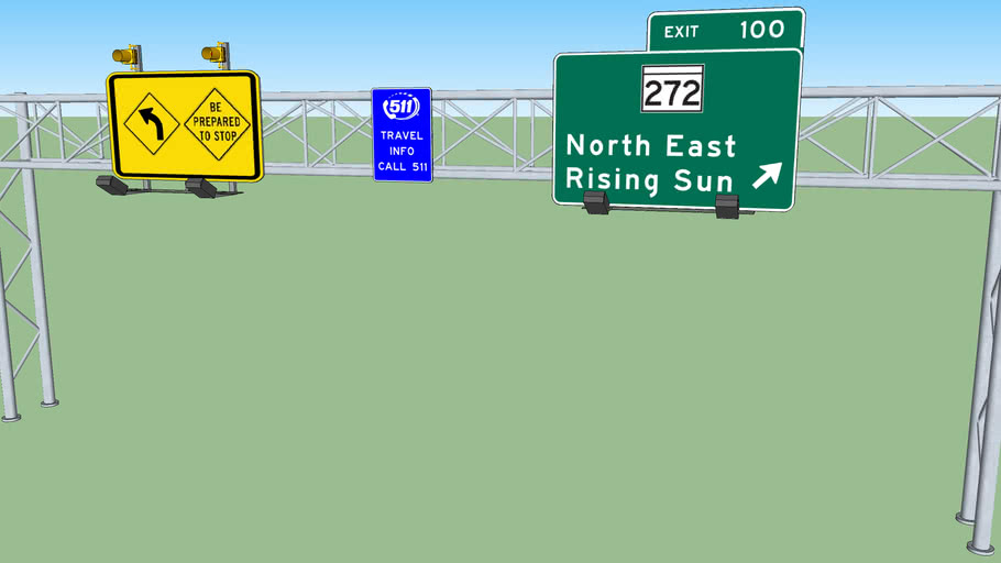 Highway traffic sign 4