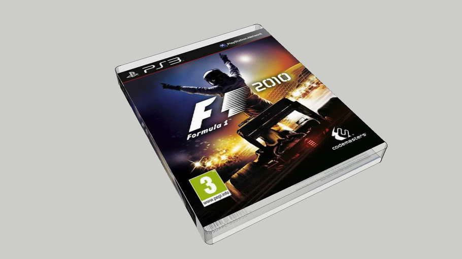 F1 2010 PS3 game cover (approx lifesize)