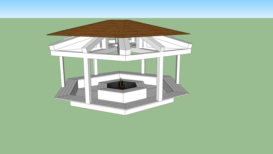 Fire Pit Gazebo 3d Warehouse