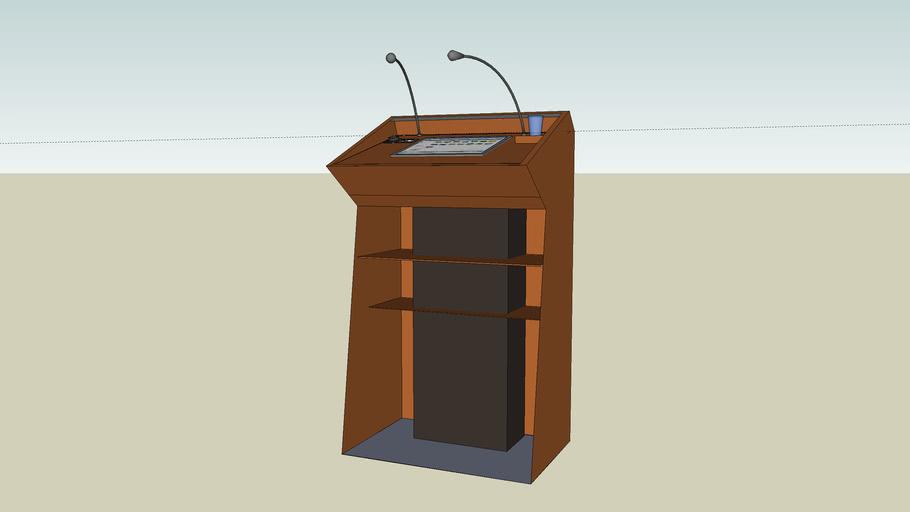 Lectern with Column Speaker