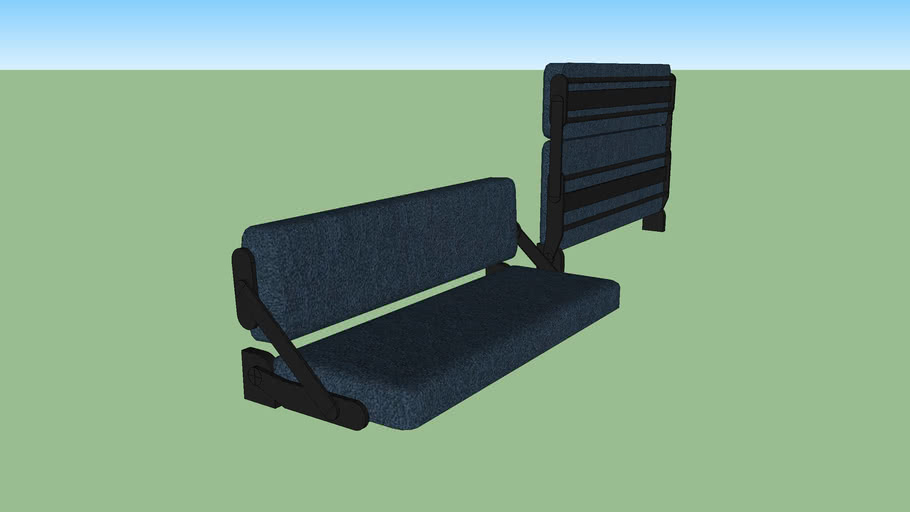 Camper Rv Fold Up Couch 3d Warehouse