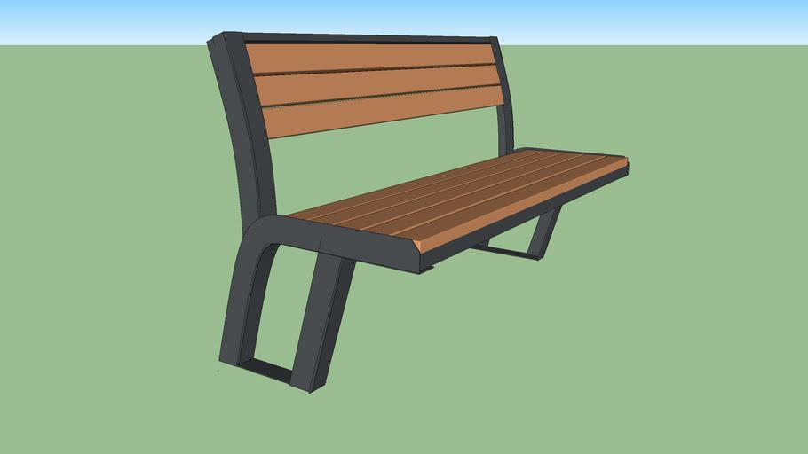 Лавочка парковая Д253 / Park bench D253