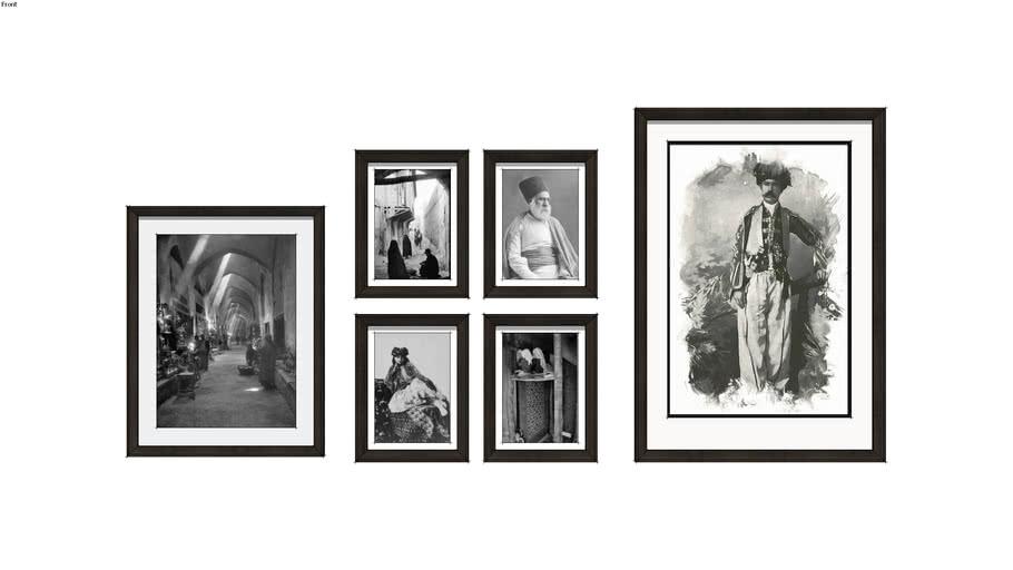 Framed Images of Old Tehran