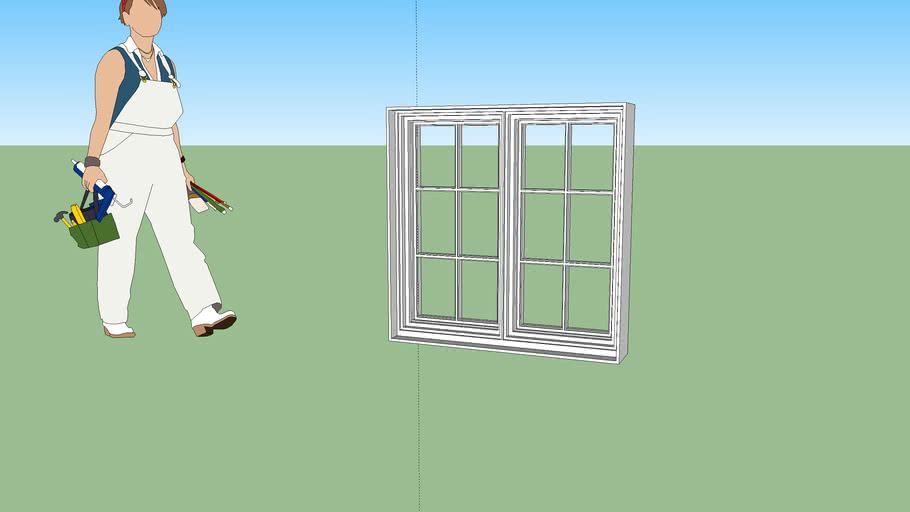 double casement window