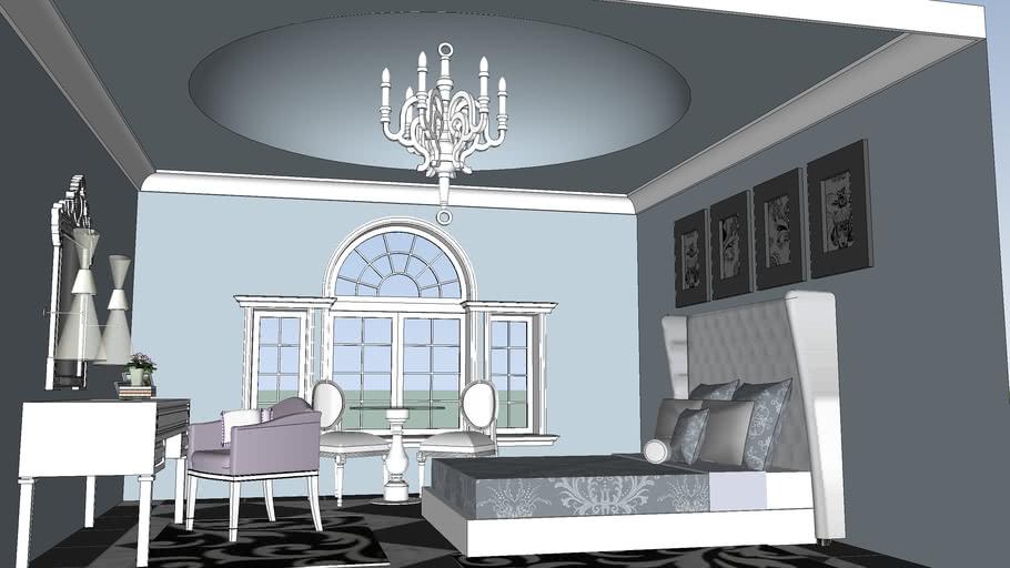 Paladian Luxury Master Bedroom 3d Warehouse
