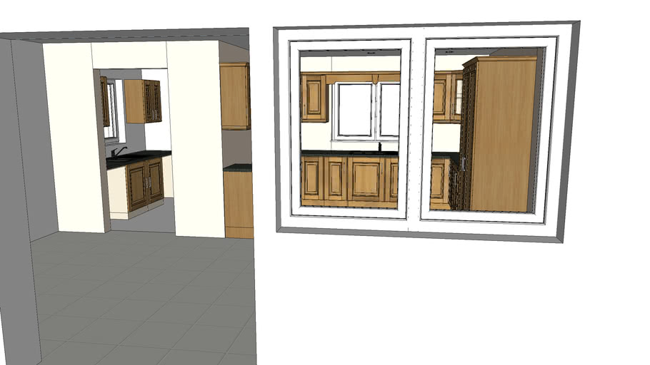 Classic Kitchen Oak with Utility Room