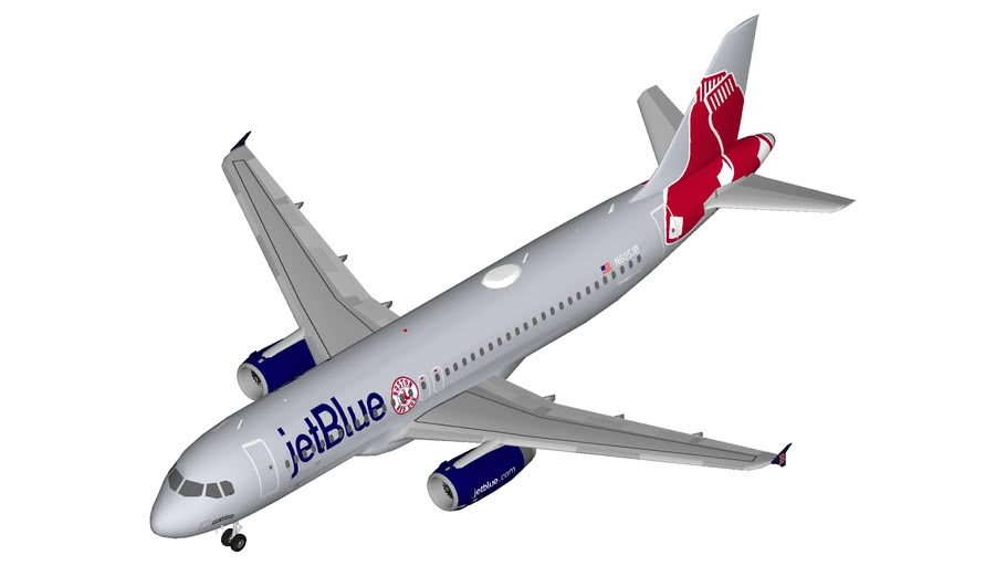 JetBlue Airbus A320 Red Sox