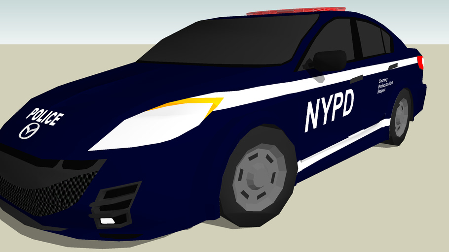NYPD Auxiliary Mazda 3