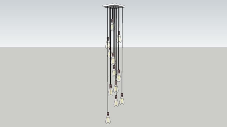 Hanging Lights 12 bulbs