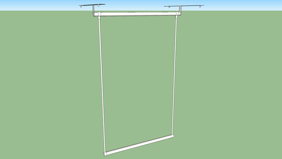 IKEA LÄTTHAT clothes rail outside 60-100 x 40