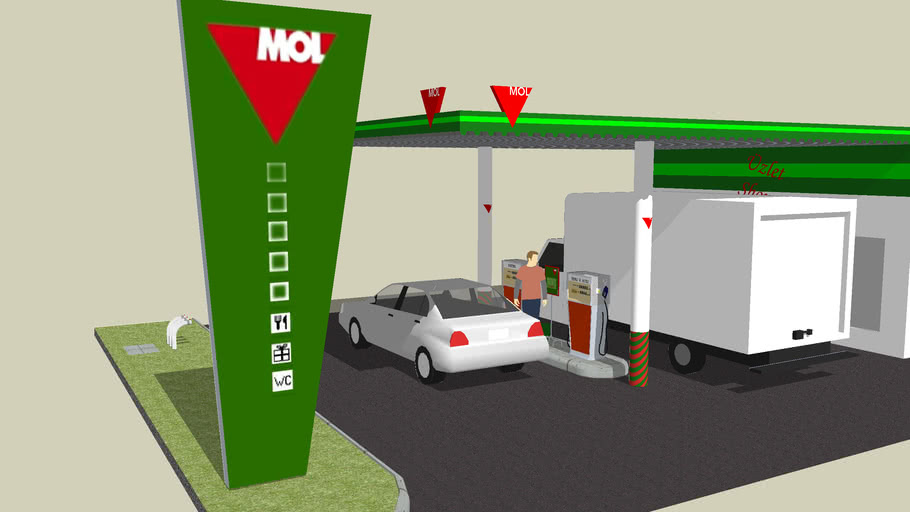 MOL Gasstation from the '80