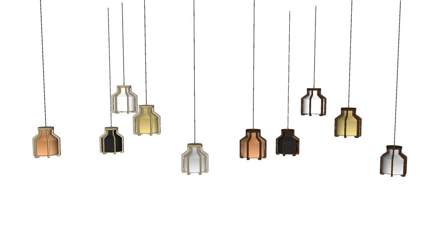 Cell Pendant Large - Contemporary Ceiling Light by Liqui