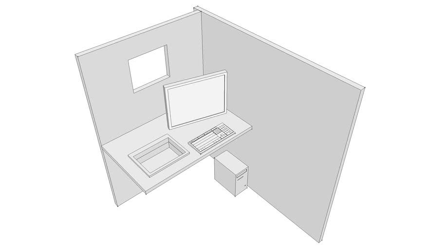 cabina con accesorios