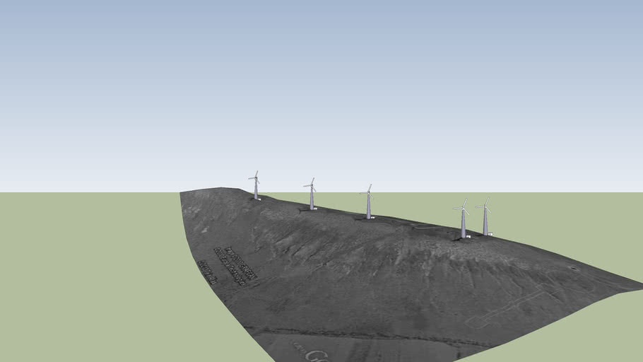 planta de aerogeneradores de montaña mina