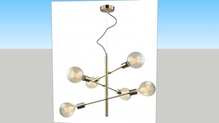 Lampa wisząca MADALYN antyczny brąz E27 ITALUX