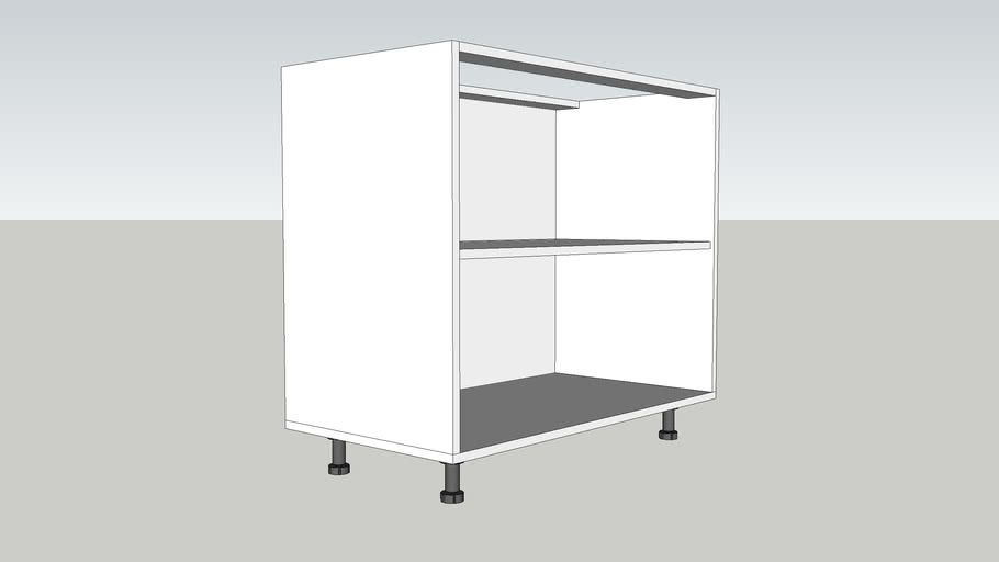 CORP INFERIOR 1 POLITA 950 mm / LOWER CABINET WITH A POLE