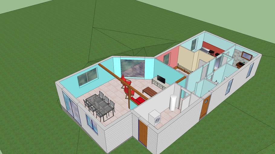 Maison ossature bois (sans toiture)