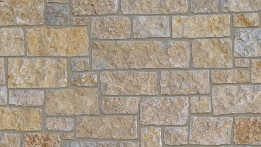 """Prairie Castle Ridge"" (Medium Brown Joint) Seamless Natural Stone Veneer Material"
