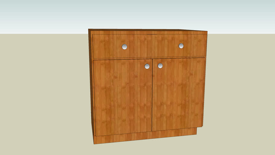 """bamboo base cabinet W 36"""", D 24"""", H 34"""""""