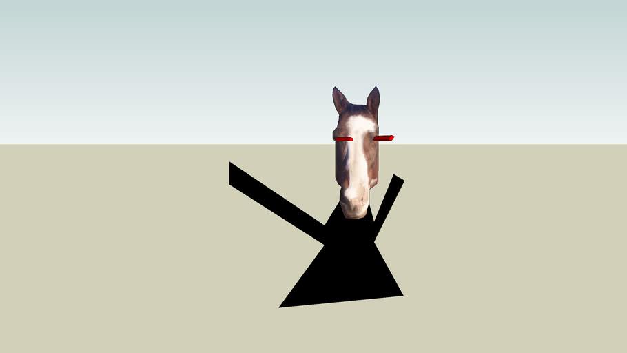 A weird horse