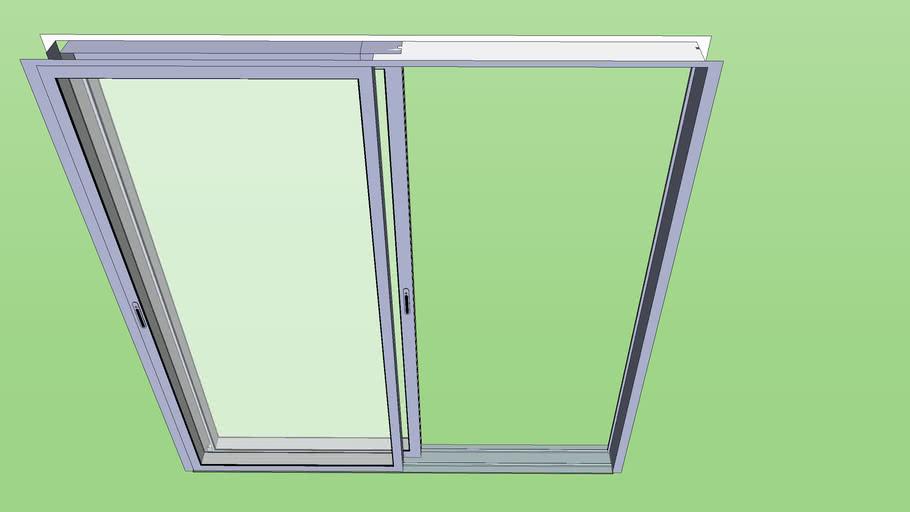 Porte fenêtre 2ventaux ouverte (détails élevé)