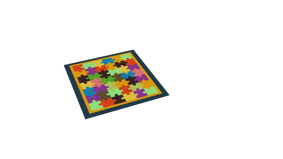 MULTI-COLORED CARPET, PUZZLE TYPE WITH FABRIC FOR CHILDREN'S PLAYGROUND