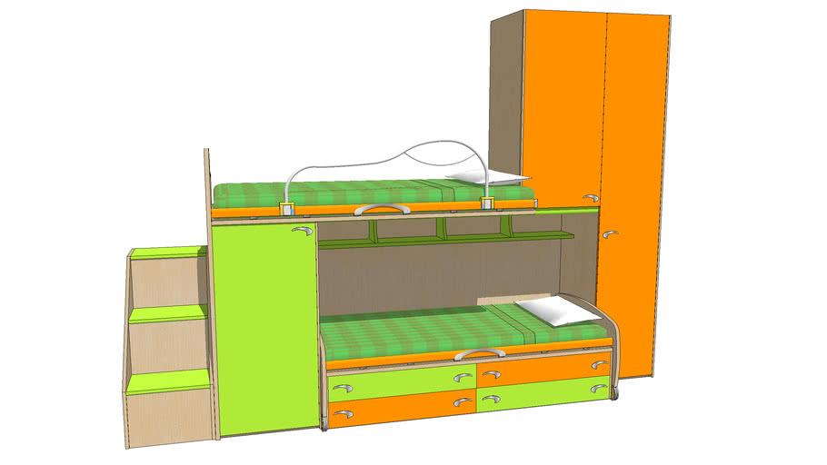 Camerette A Soppalco Moretti.Moretti Soppalco 3d Warehouse