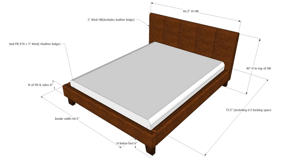 Queen Bed Bedside Table 3d Warehouse, Queen Bed And Bedside Tables