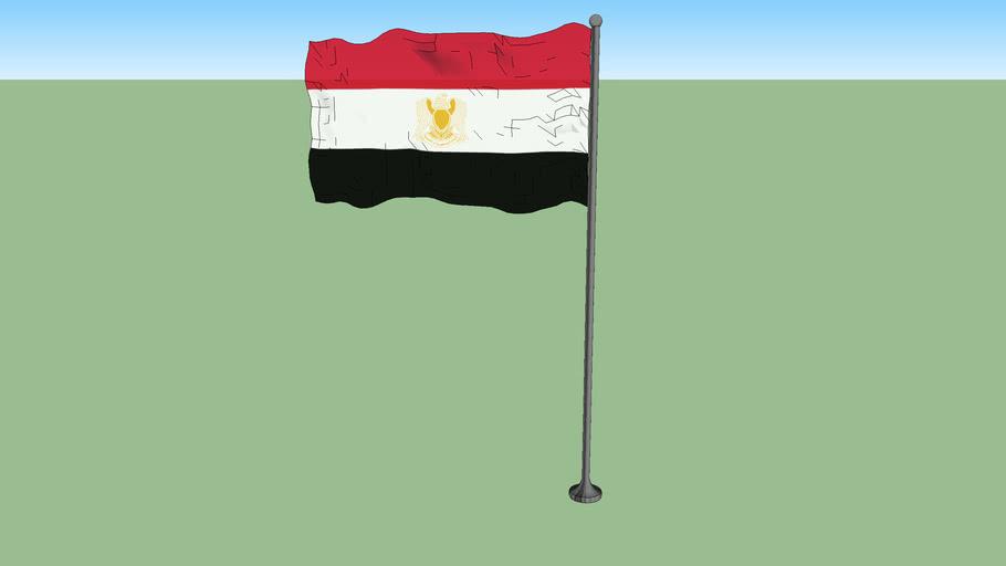 Flag of the Federation of Arab Republics (1972-1980)