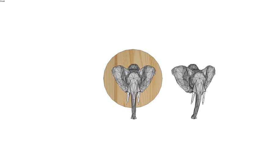 Adorno de Parede - Elefante