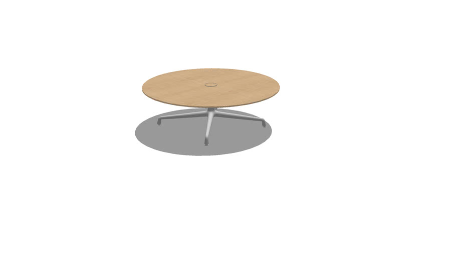 Coalesse, SW_1, Low Conference Table, Occasional, Round, Veneer, 48x15