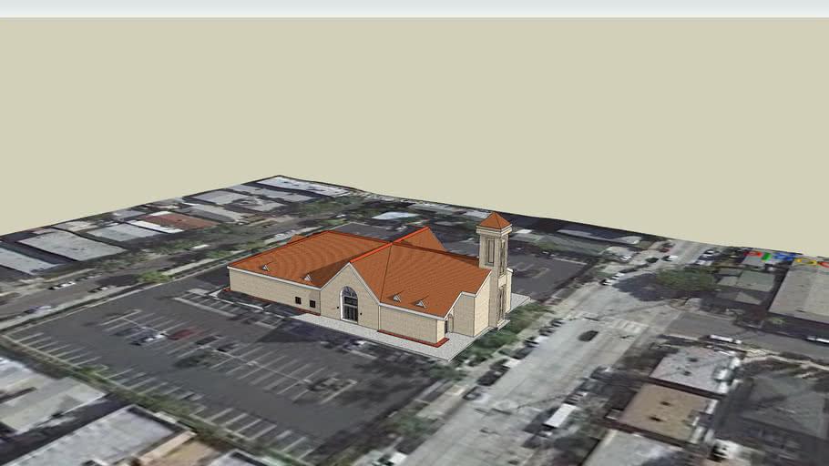 LDS. Centro de Reunion Mormon, Capilla Normandie , Los Angeles Ca.