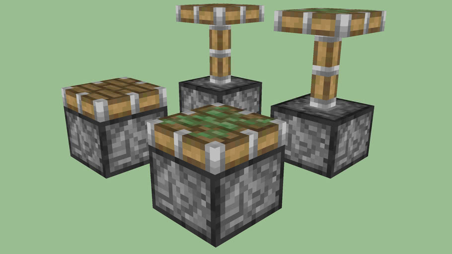 Minecraft Pistons (Sticky- and non-) by Zapperier