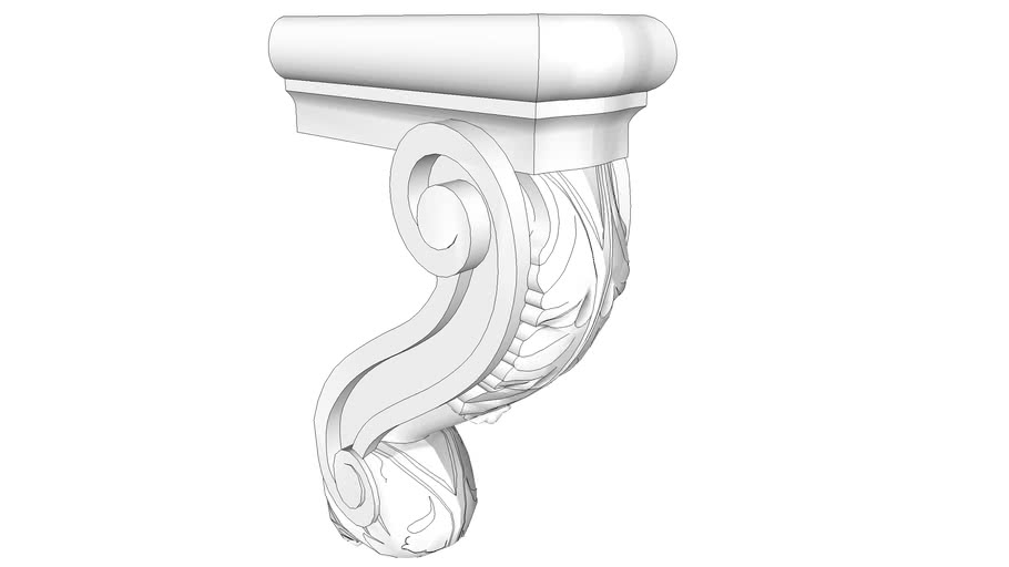 Osborne Modified Bar Corbel with Acanthus Leaves, Part #8105