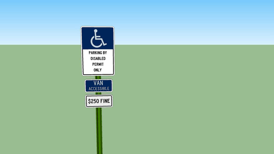 Florida Handicap Parking Sign - Detailed