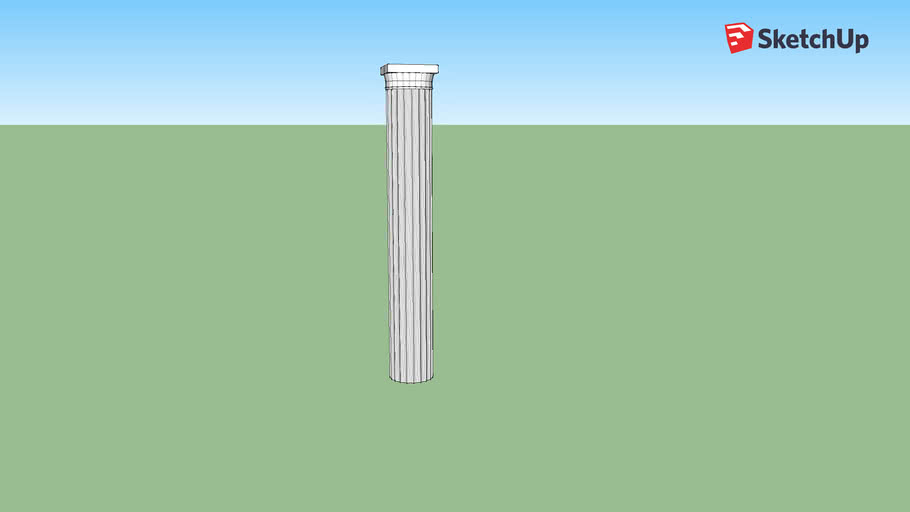 Vitruvian Fluted Column