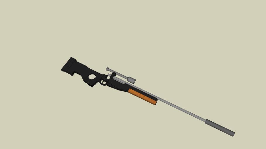 Silenced magnum sniper rifle